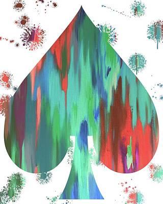 Spade Paint Splatter Poster by Dan Sproul