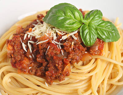Spaghetti Bolognese Close-up Poster