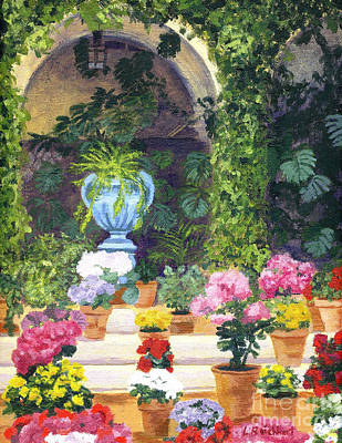 Spanish Courtyard Poster by Lynne Reichhart