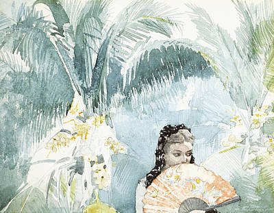 Spanish Girl With A Fan Poster by Winslow Homer