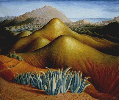 Spanish Landscape With Mountains Poster