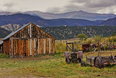 Poster featuring the photograph Spanish Peaks Ranch 2 by Charles Warren