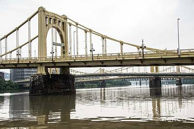 Spanning The Allegheny Poster by David Bearden