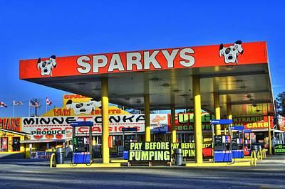 Sparkeys Poster by Corky Willis Atlanta Photography