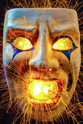 Sparking Mask Poster by Garry Gay