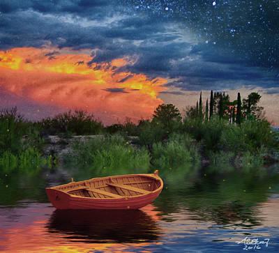 Sparkle Pond Poster