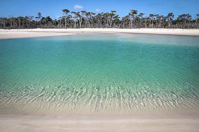 Sparkling Beach Lagoon On Deserted Beach Poster