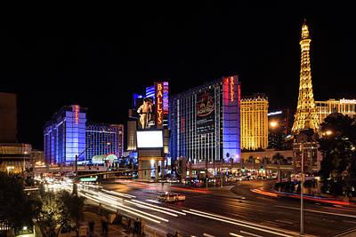 Sparkling Las Vegas Neon - Zooming Along The Strip Poster by Georgia Mizuleva
