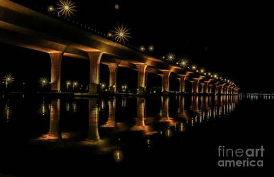 Sparkling Light Bridge Poster by Tom Claud