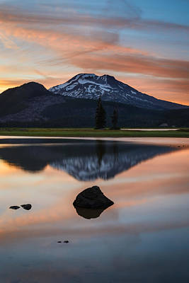 Sparks Lake At Sunset Poster