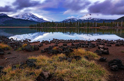 Poster featuring the photograph Sparks Lake by Cat Connor