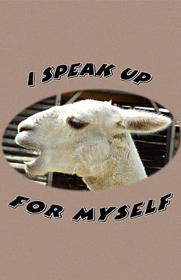 Speak Up Poster by Judi Saunders