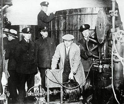 Speakeasy Brewery Bust - Prohibition C. 1930 Poster