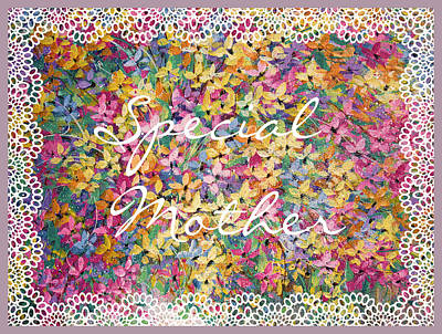 Special Mother Floral Lace  Poster