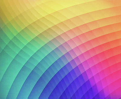 Spectrum Bomb Fruity Fresh Hdr Rainbow Colorful Experimental Pattern Poster