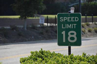 Speed Limit 18 Ole Miss Poster by Luke Pickard
