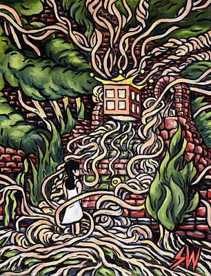 Speghetti Tree Poster by Sean Washington