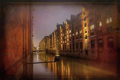 Speicherstadt Hamburg By Night  Poster