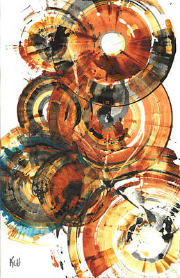 Poster featuring the painting Sphere Series 1022.050212 by Kris Haas