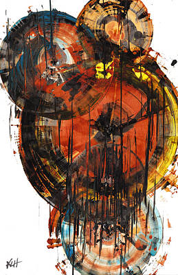 Poster featuring the painting Sphere Series 1023.050312 by Kris Haas