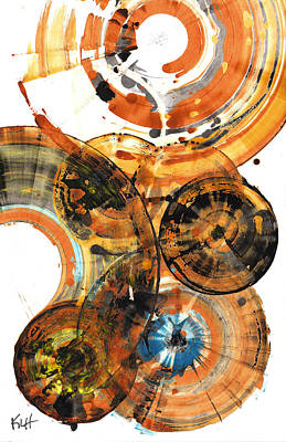 Poster featuring the painting Sphere Series 1024.050312 by Kris Haas