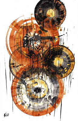 Poster featuring the painting Sphere Series 1028.050412 by Kris Haas