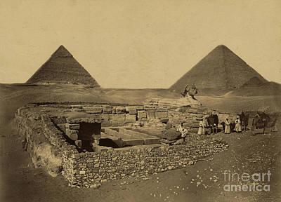Sphinx And Giza Pyramids, 19th Century Poster