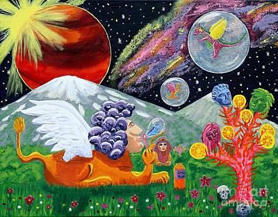 Sphinx Dude's World Poster by Vicki Maheu