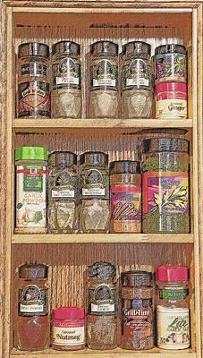 Spice Rack Still Life Poster by Steve Ohlsen