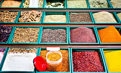 Spice Stall Poster by Tom Gowanlock