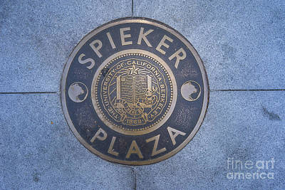 Poster featuring the photograph Spieker Plaza Monument At University Of California Berkeley Dsc6305 by San Francisco Art and Photography