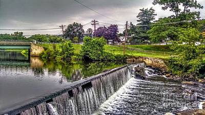 Spillway At Grace Lord Park, Boonton Nj Poster