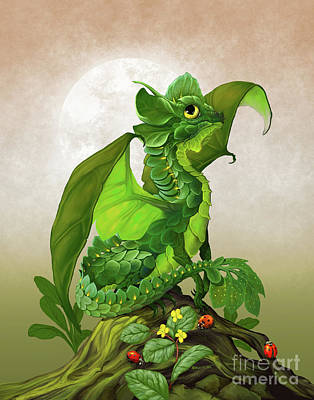 Spinach Dragon Poster by Stanley Morrison