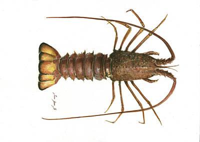 Spiny Lobster Poster by Juan Bosco