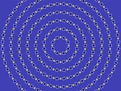 Spiral Circles Poster by Michael Tompsett