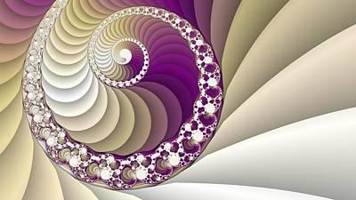 Spiral Fractal Art Poster