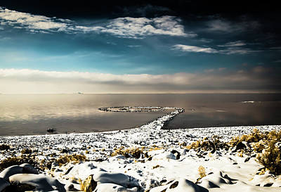 Spiral Jetty In Winter Poster