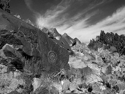Spiral Petroglyph Poster