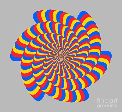 Spiral Primary Colors Poster by Marv Vandehey
