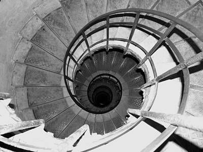 Spiral Staircase At The Arc Poster by Donna Corless