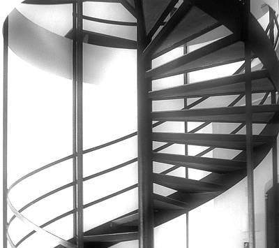 Spiral Staircase In Ethereal Light Poster