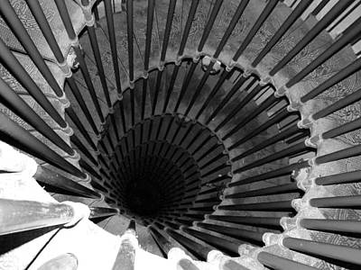 Spiral Staircase In Lublijana Poster by Donna Corless