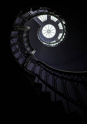 Spiral Staircase With Glass Roof Poster