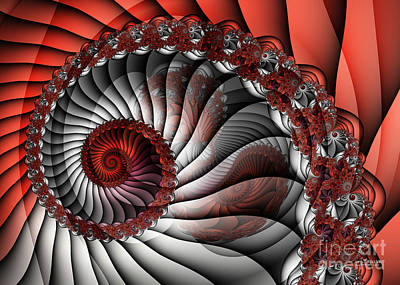 Spiral Stairs Poster by Jutta Maria Pusl