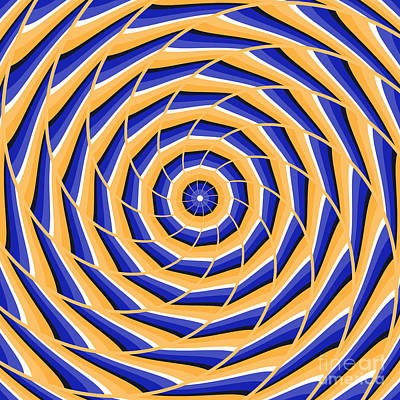 Spiral Twisting To Center Poster by Yurii Perepadia