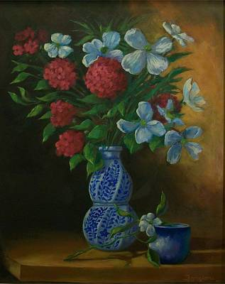 Spiral Vase Poster by Tom Forgione