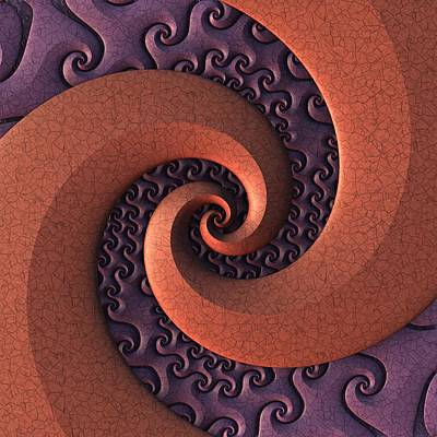 Poster featuring the digital art Spiralicious by Lyle Hatch