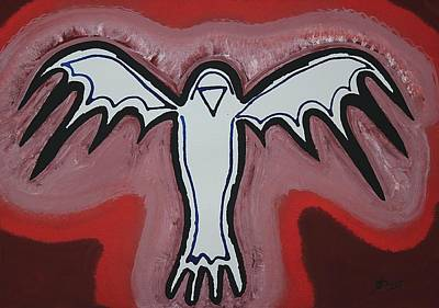 Spirit Crow Original Painting Poster