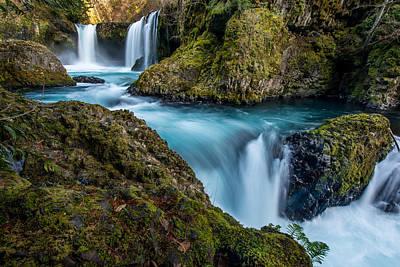 Spirit Falls Columbia River Gorge Poster