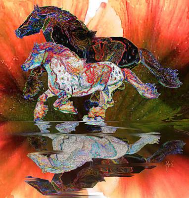Spirit Horse II Leopard Gypsy Vanner Poster by Michele Avanti